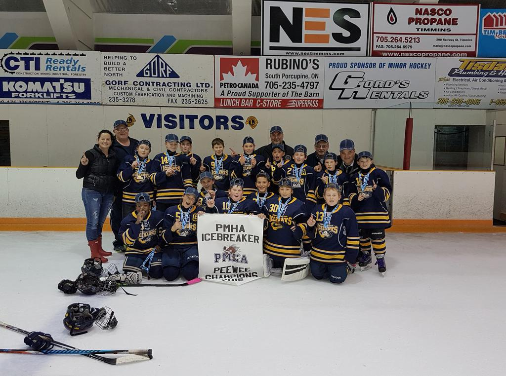 Peewee Icehawks Icebreaker 2016 Champs