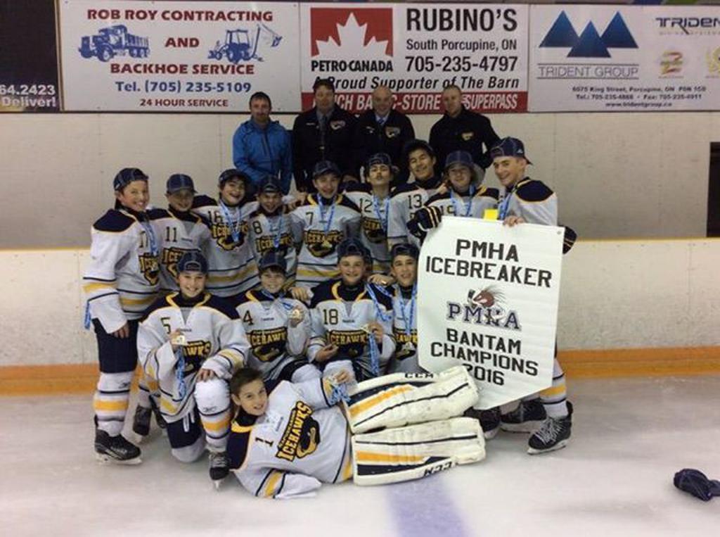 Bantam Icehawks Icebreaker 2016 Champs