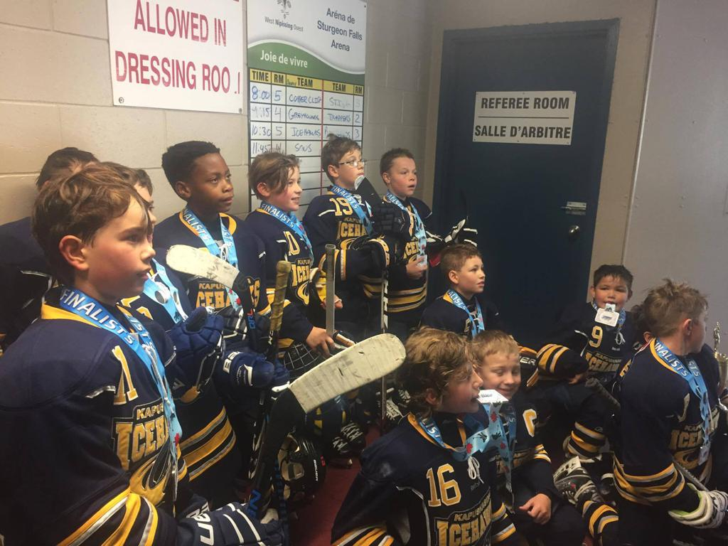 Atom Icehawks Silver Medalists in Sturgeon Falls