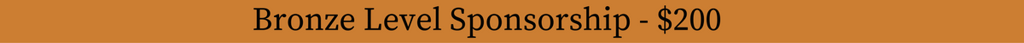 Bronze Level Spsonsorship