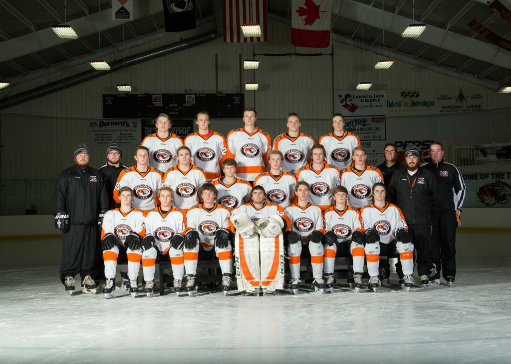 2016-17 NRHS Varsity Tiger Hockey Team