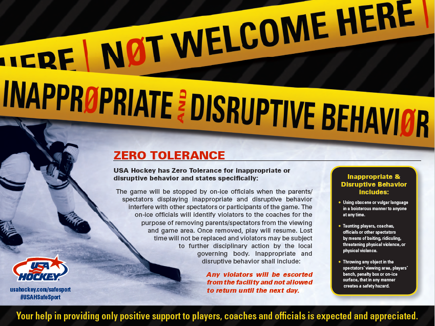 USA Hockey Zero Tolerance Policy