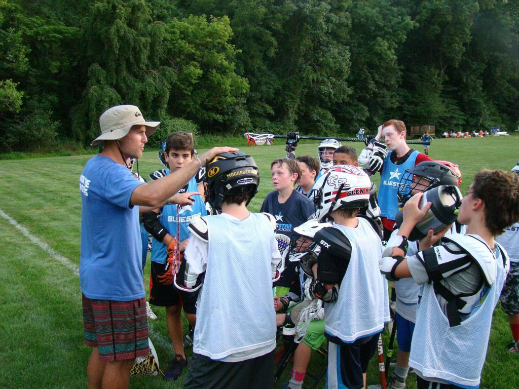Bryan Hopper Coaching at Blue Star Overnight Lacrosse Camp 2016
