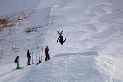 Hunter rawles back flip at chapman hill small