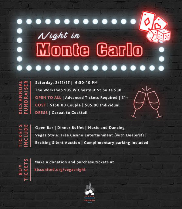 A Night In Monte Carlo Fundraising Event