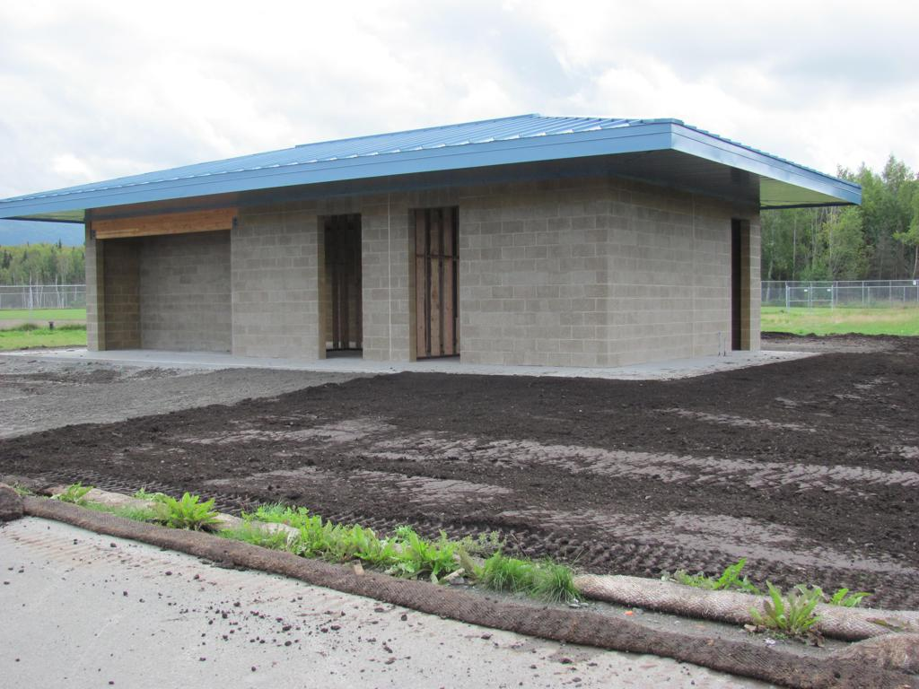 The Chuck Albrecht Softball Complex utility building is nearly complete.