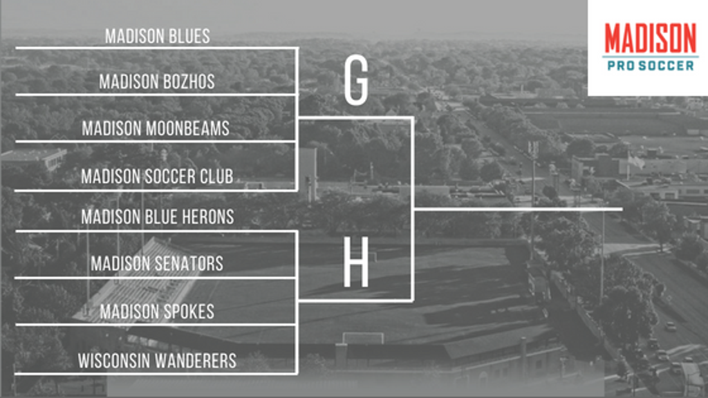 Madison Pro Soccer Group G and H Bracket