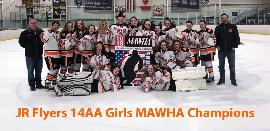 Jr. Flyers 14UAA girls win MAWHA Championship
