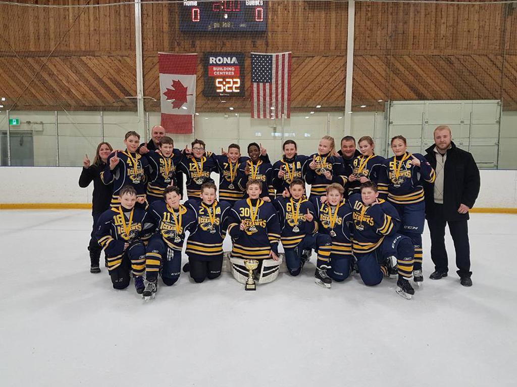 2017 Soo Extravaganza Gold Medal - Peewee A Icehawks