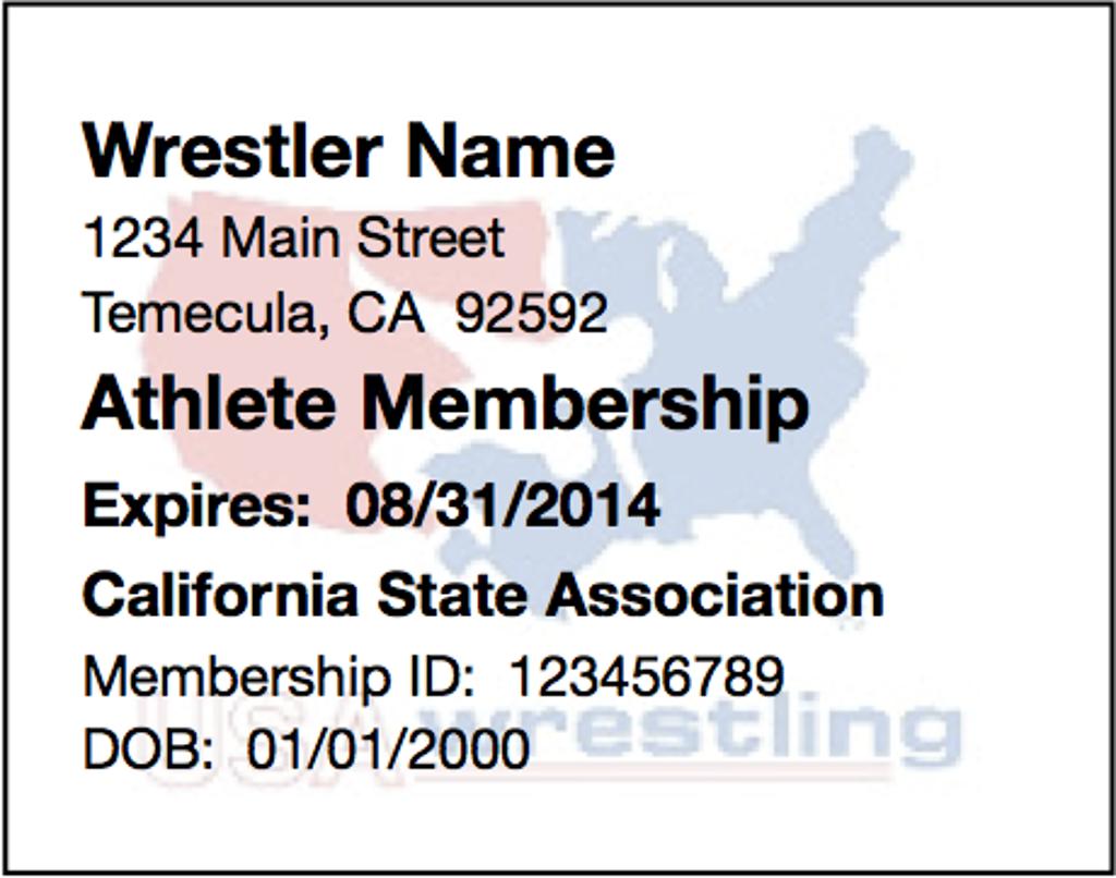 wrestling usa card usaw membership