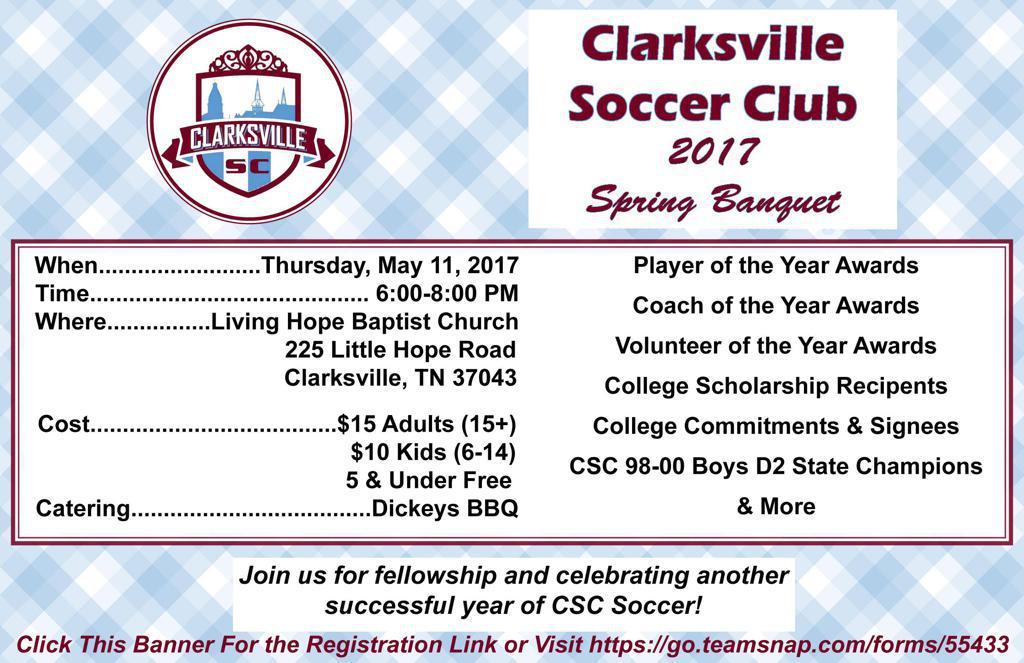 2017 CSC Spring Banquet Registration Link
