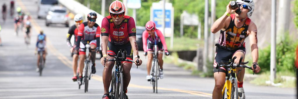 Bikers participating in IRONMAN 70.3 Subic Bay Philippines