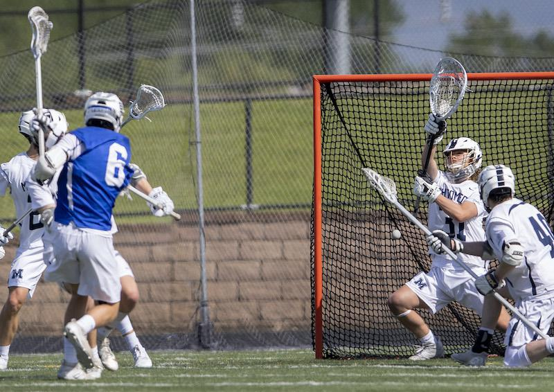 St. Thomas Academy's Baker Reding (6) scored the go-ahead goal in the fourth quarter. Reding's season was one of the breakout performances of the 2019 season. Photo by Carlos Gonzalez, Star Tribune