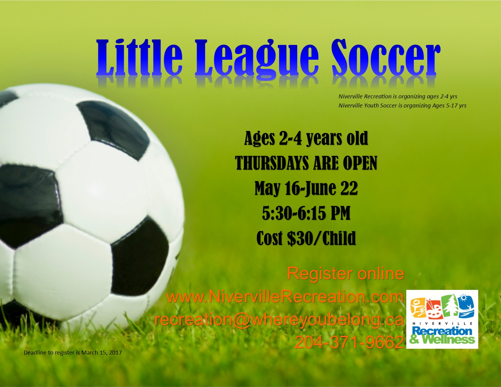 Little League Poster for Thursdays Nights