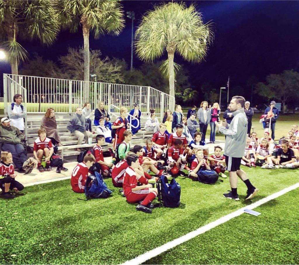 Chicago Fire's Director of Youth Club Affiliates Visiting the Florida Fire Juniors