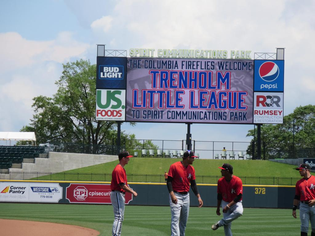 Trenholm Little League Day with the Columbia Fireflies