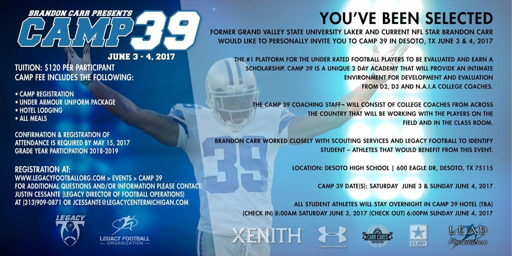 Brandon Carr Camp 39