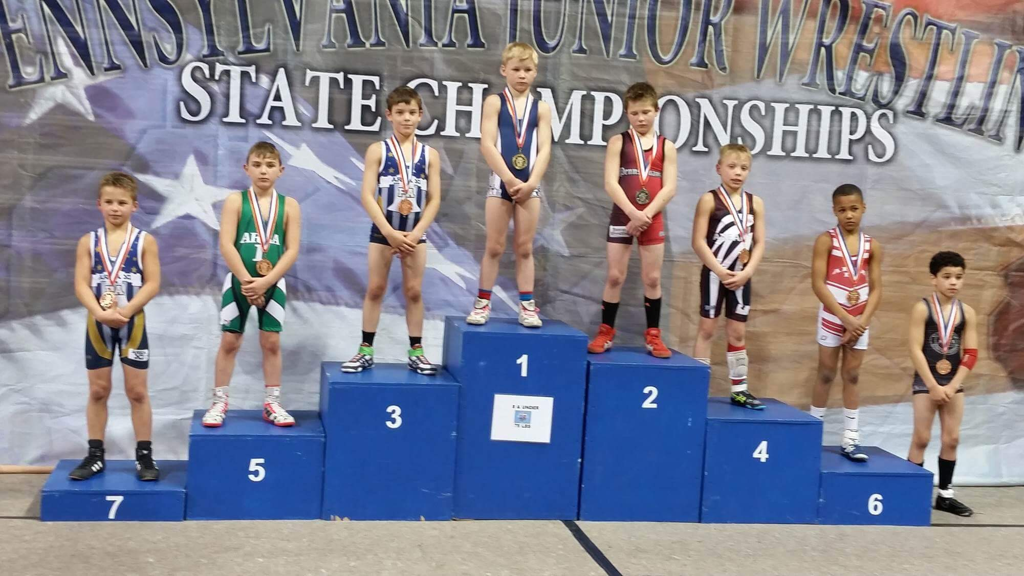 Youth wrestling in West Chester, Pa