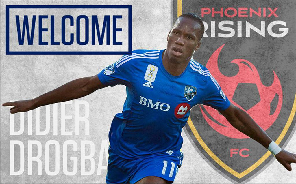 Image result for Former Chelsea star, Drogba joins USL's Phoenix rising