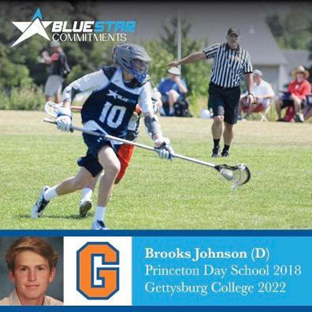 Brooks Johnson Blue Star Lacrosse Gettysburg Commit