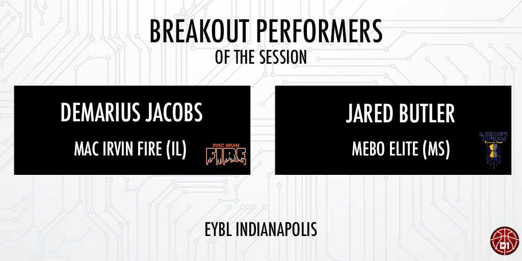 NIKE EYBL Indy Breakout Performer(s): Demarius Jacobs & Jared Butler