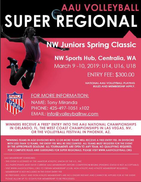 2019 Spring Classic Tournament - AAU Super Regional