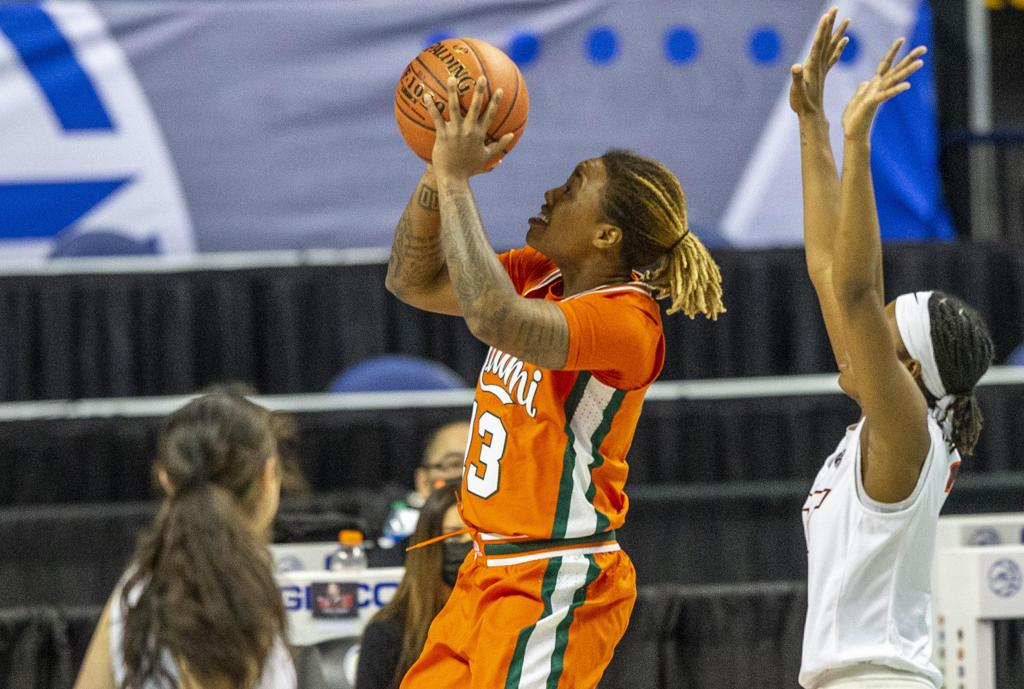 Destiny Harden had a career high for the Canes
