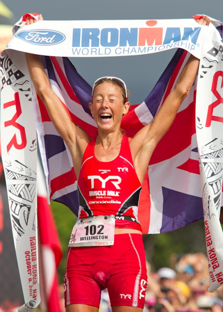 Chrissie Wellington secures her fourth IRONMAN World Championship victory in 2011