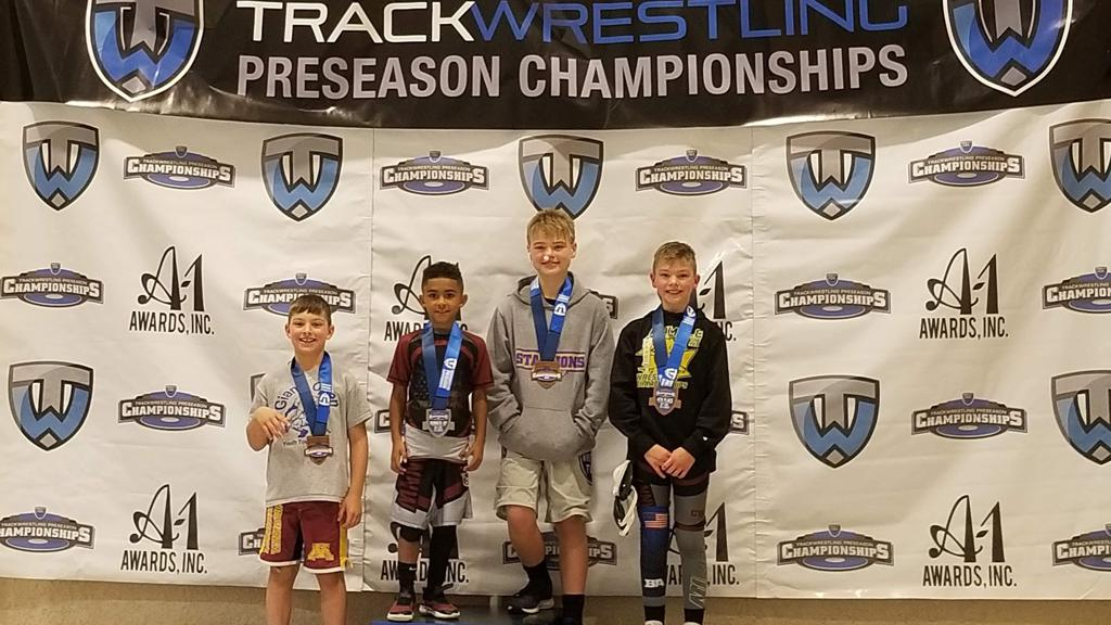Congratulations to four of our Stallions wrestlers today at the Trackwrestling Preseason National Championship in LaCrosse, WI. We saw some great wrestling to start our season!  2nd place- Cameron Rogers (8U) 3rd place- Michael Gillette (12U) 4th place- I