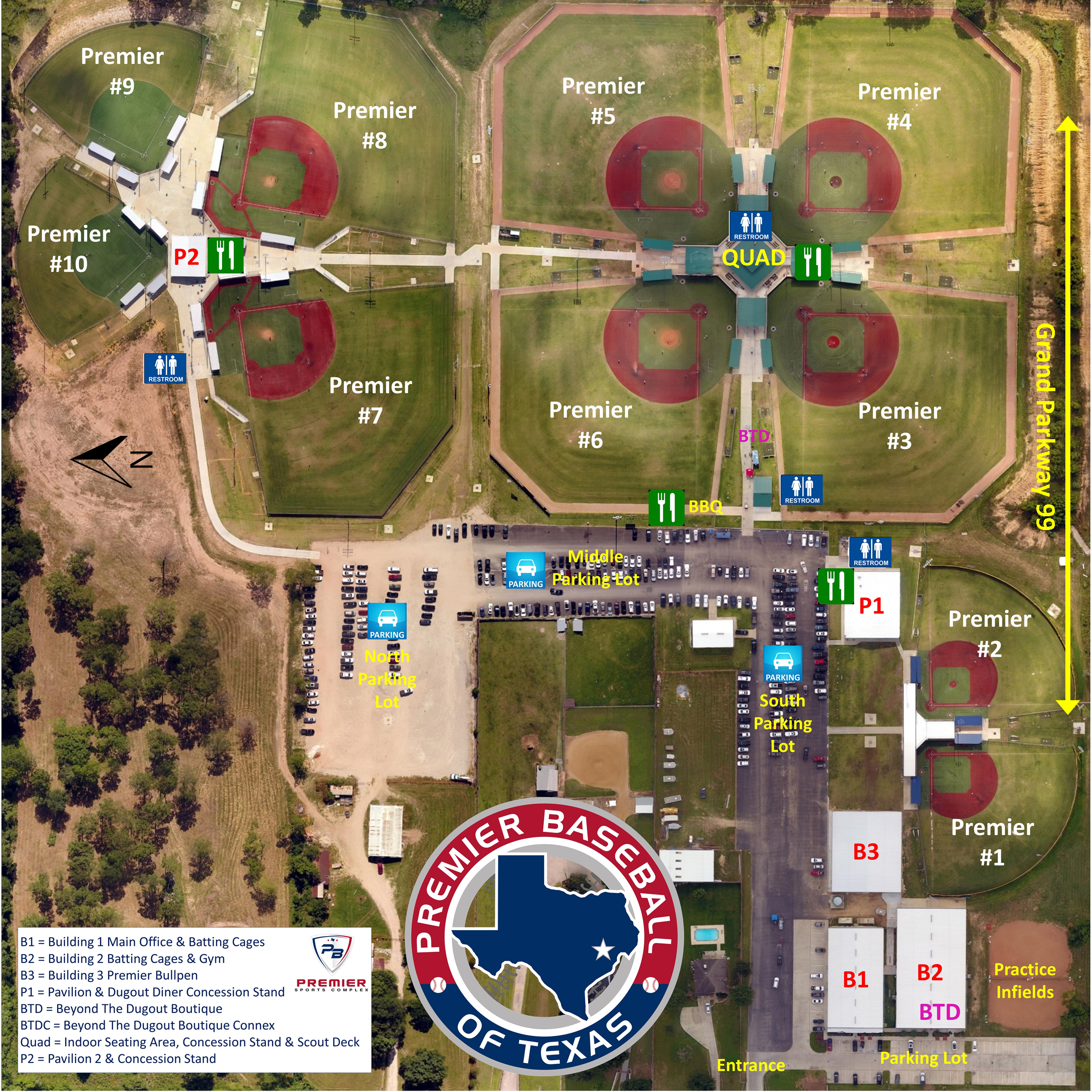 Field Map & Directions