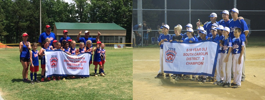 District 3 Minors Baseball and District 3 Coach Pitch Softball Champions