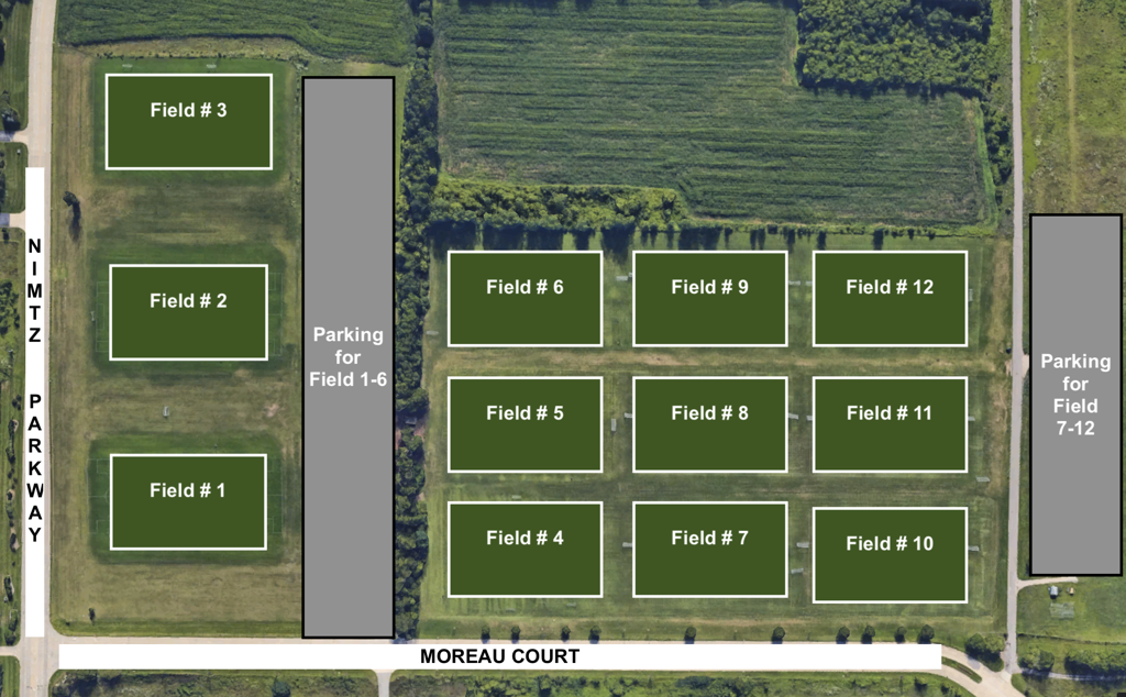 Jr Irish Airport Fields  5200 Nimtz Parkway South Bend IN 46628 Link to Map