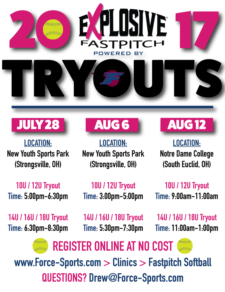 Explosive Tryout Dates
