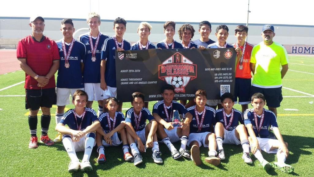 B02 Championships - SilverElite South 2015, BodyArmor Classic 2015, Huntington Beach Snapple Classic 2015, Spring Cup 2014, Brea Kickoff Classis 2014, Newport Mesa Cup 2013, Bronze Central  2013