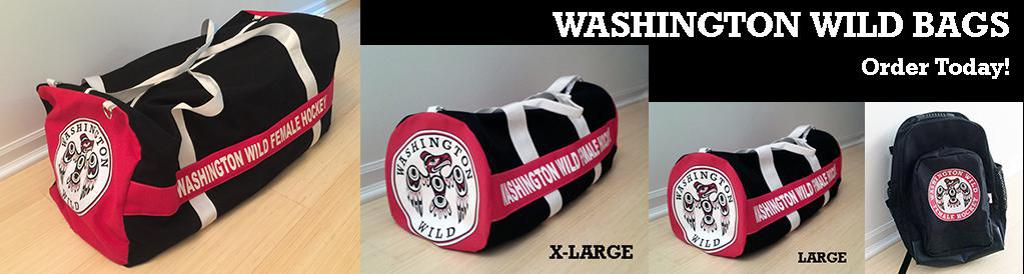Washington Wild Team Gear - hockey bags