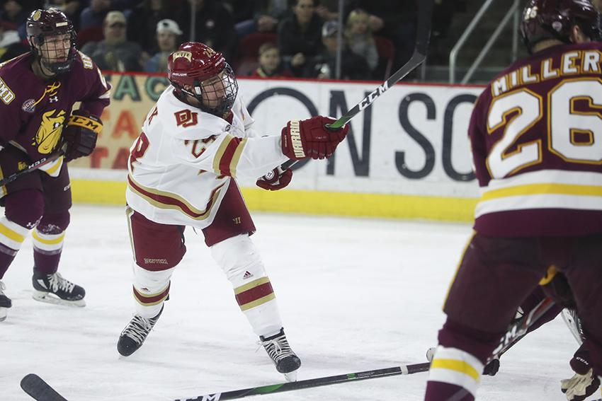 Bobby Brink was a NCHC All-Rookie Team selection a season ago. The University of Denver forward was also a finalist for the conference's Rookie of the Year award.