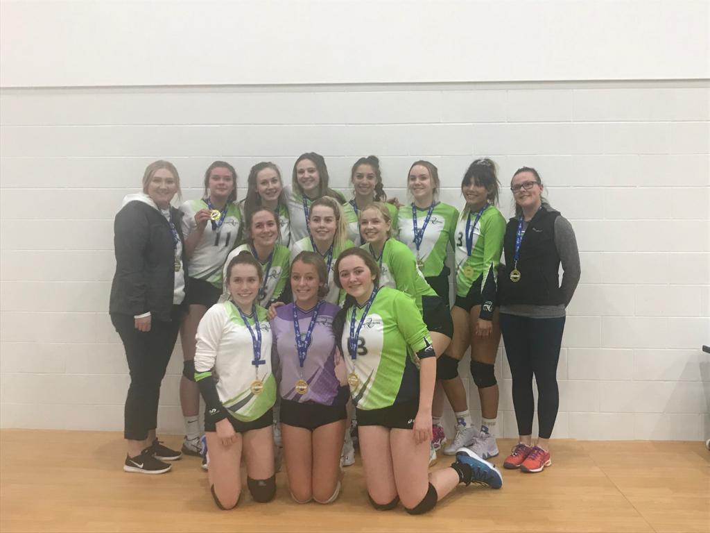 2019 U16 WOMEN GREEN TEAM PREMIER 3 DIV 2 GOLD METALISTS