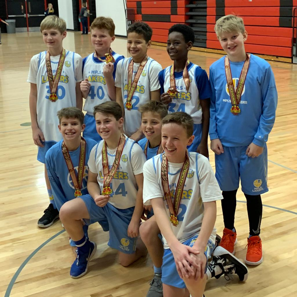 Boys 6th Grade Gold take 3rd Place at Rochester Early Bird Classic. Way to go Lakers! #MplsLakers #MplsLakersBasketball