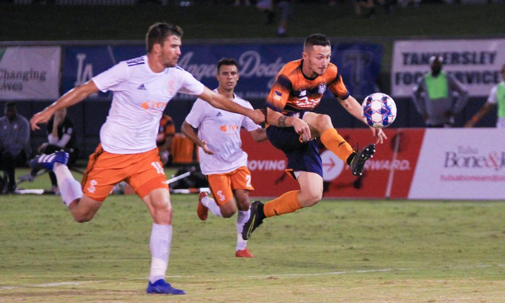 Michael Gamble was named the Roughnecks Man of the Match by the Roustabouts. (Brooke Carroll)