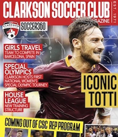 PARTNERSHIP PROJECT WITH SOCCER360-CLICK IMAGE TO READ MAGAZINE ON CLARKSON PROJECTS AND PROGRAMS