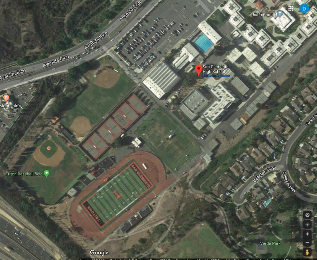 Directions to San Clemente High School - Thalassa Stadium