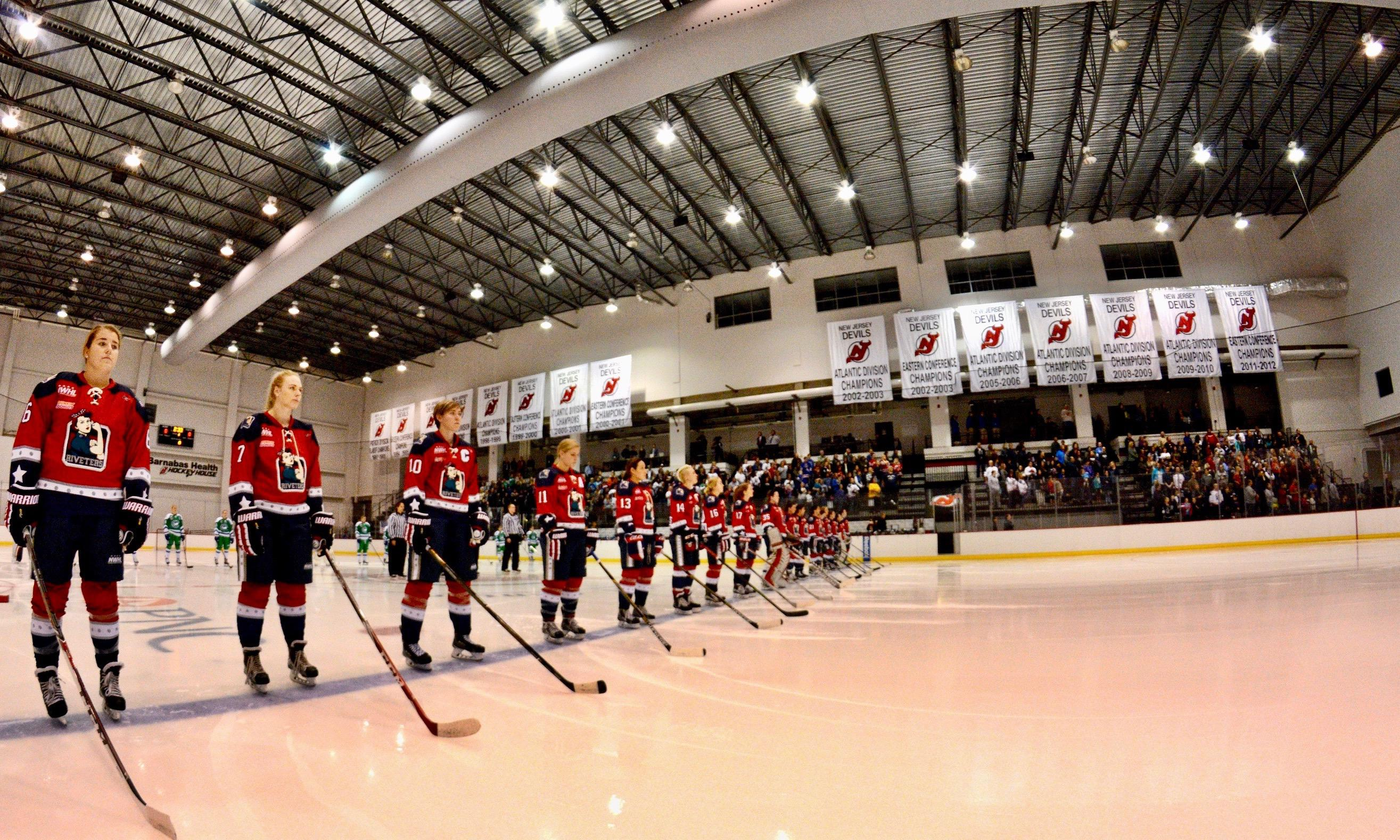 Prudential Center to host Riveters-Boston season opener as part of special  NWHL-NHL doubleheader with Devils-Arizona on Oct. 28. NEWARK 5ad09a4a0