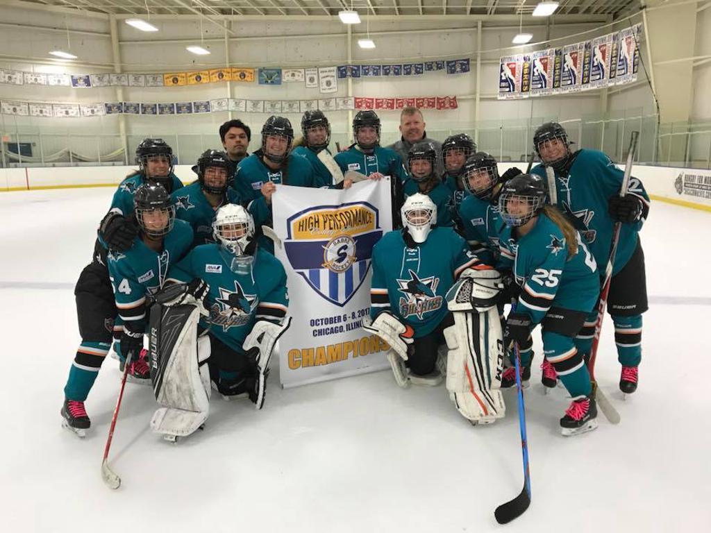 San Jose Jr Sharks 19U Girls claim High Performance College Showcase Championship in Chicago