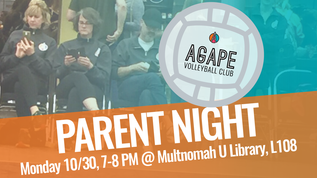 Agape Volleyball Club Parent Night