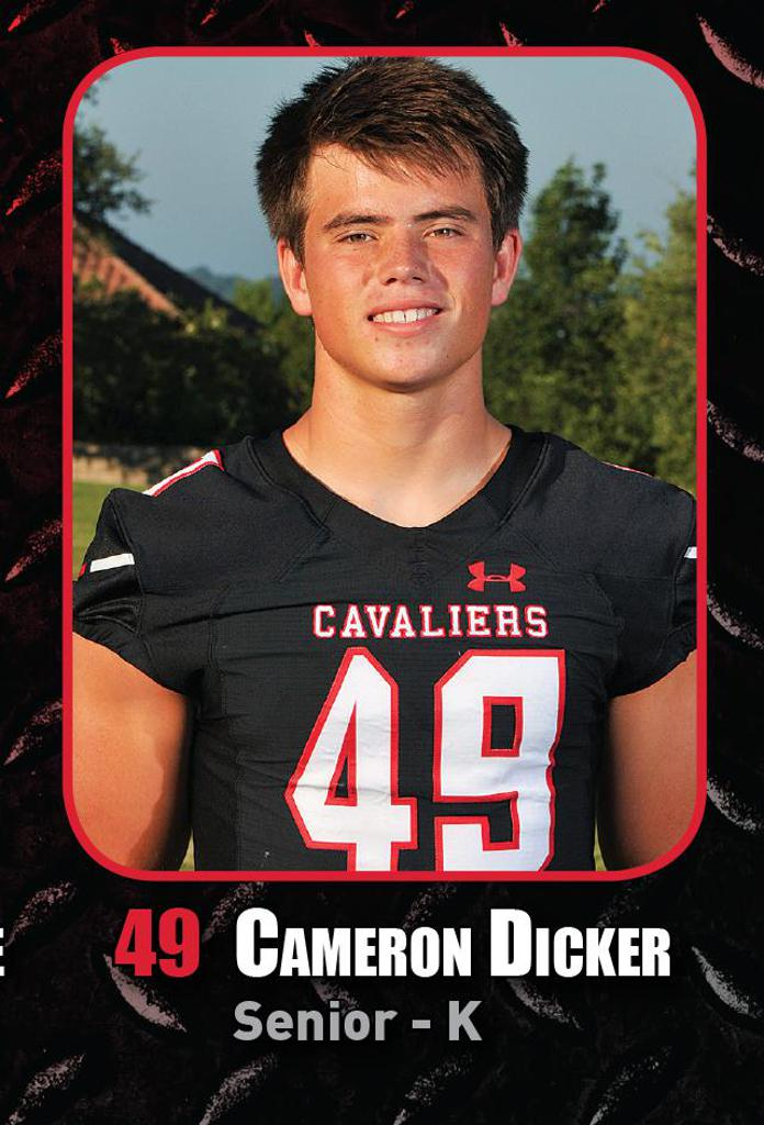DISTRICT GAME 4 vs LEANDER HS - Cameron Dicker Player of the Week, BIG HIT