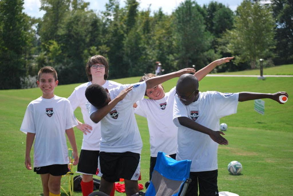 U12 Boys - Doing the Dab on the sidelines!