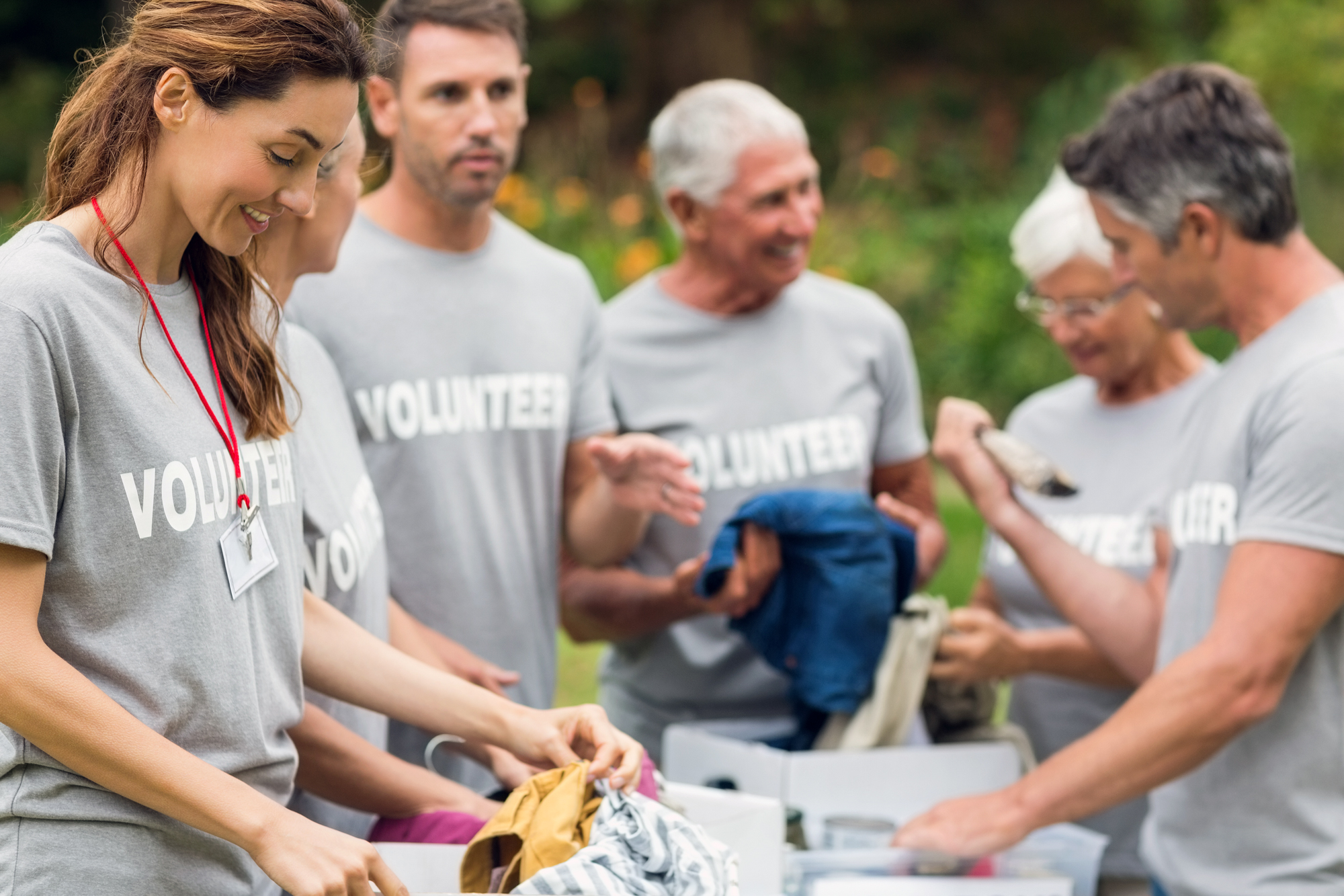 Volunteers at an event