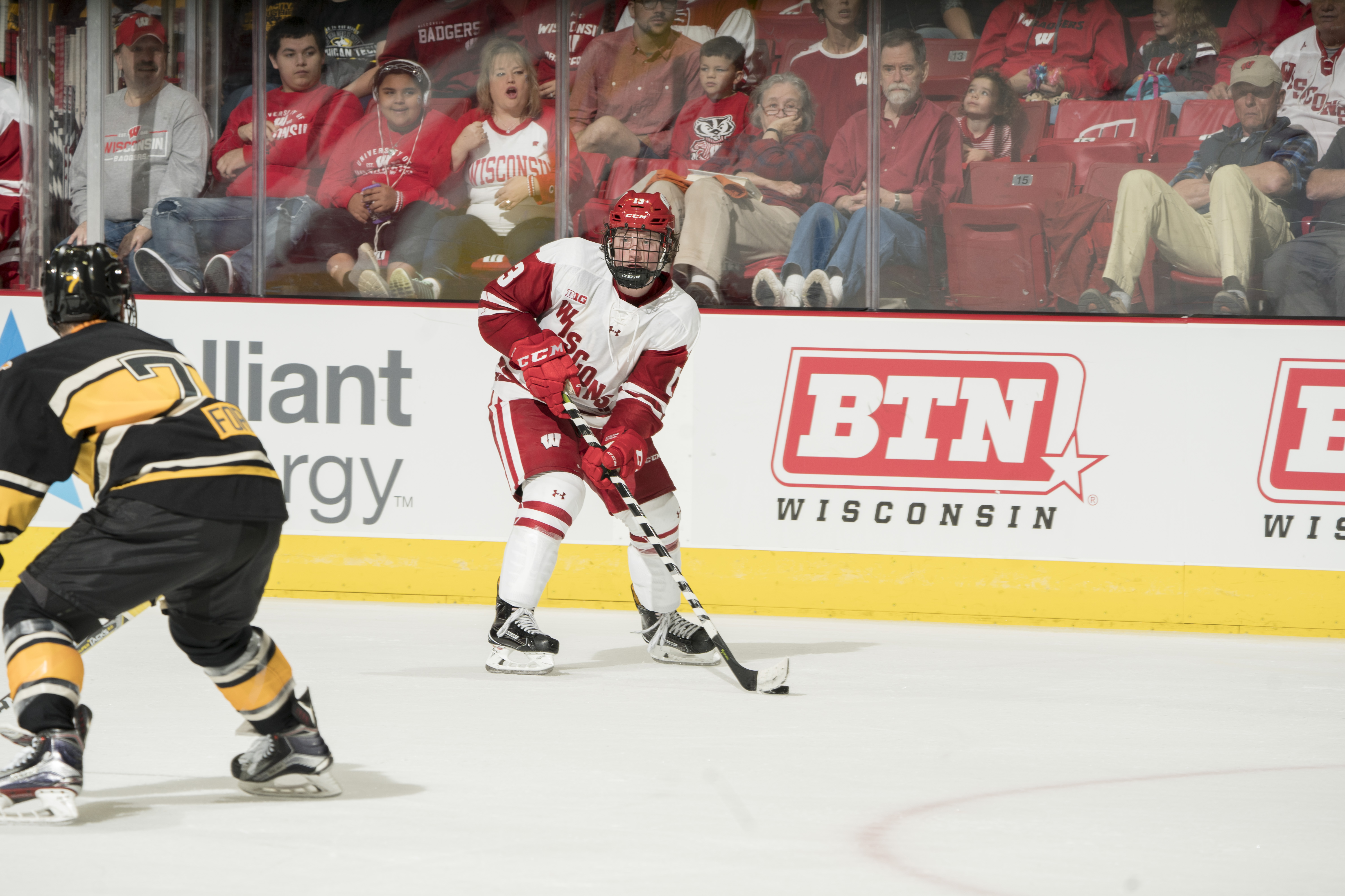 Ryan Wagner with the University of Wisconsin (photo courtesy of Greg Anderson)