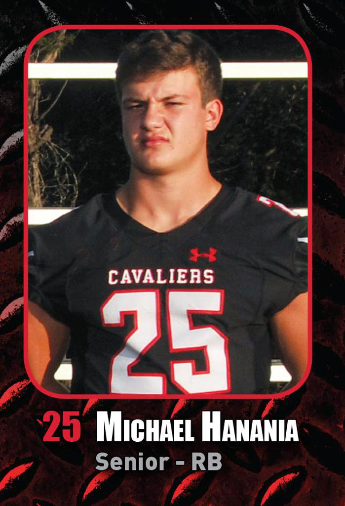 Semi-Final Playoff Game vs Katy HS -Player of the Week, BIG BLOCK Michael Hanania