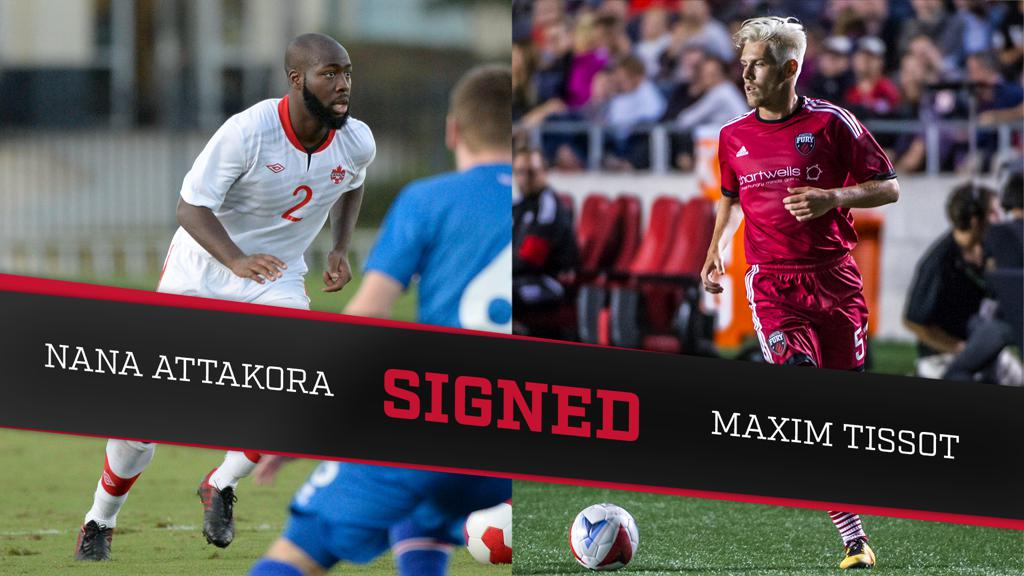 Maxim Tissot and Nana Attakora Fury FC